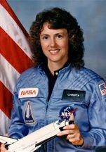 Astronaut and teacher Christa McAuliffe of the Challenger Space Shuttle crew