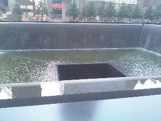 The 9-11 Memorial Reflecting Pools in New York City