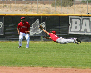 Great baseball catch by A. J. Trujillo