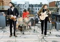 Beatles playing live on rooftop