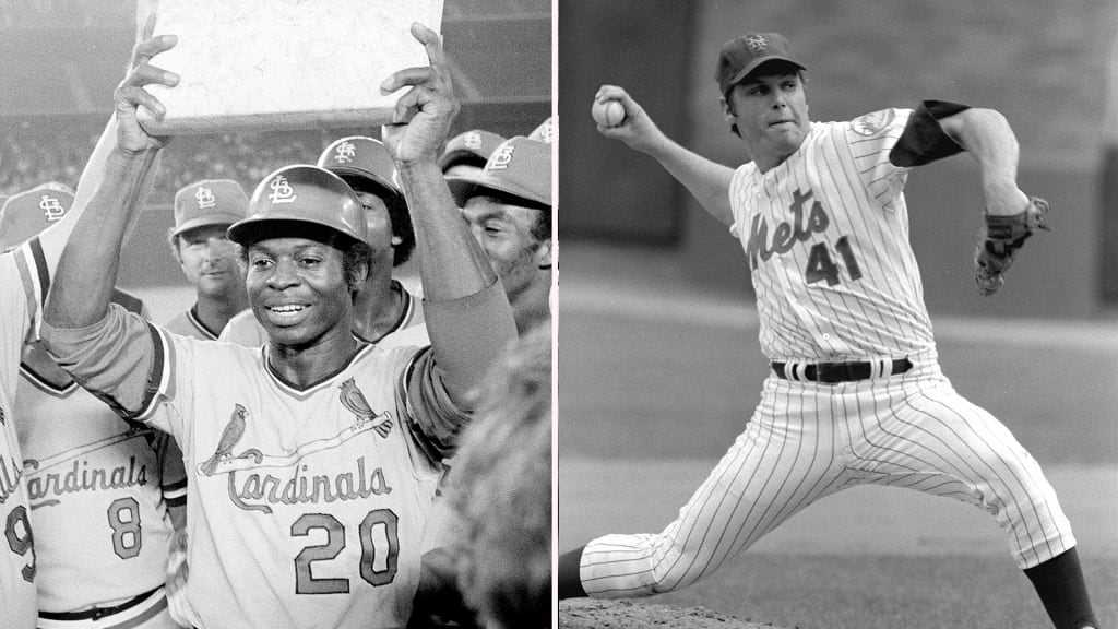 Tom Seaver and Lou Brock Baseball Legends