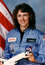 Astronaut and teacher Christa McAuliffe of the Challenger Space Shuttle crew