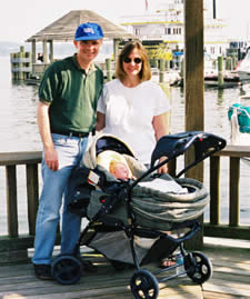 my brother, Doug with his wife and son
