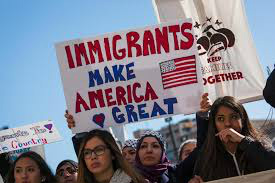 Immigrants protest, photo from bostonglobe.com