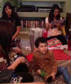kids at Christmas 2012