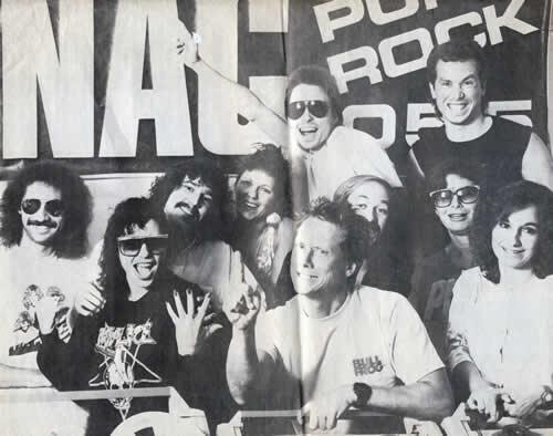 KNAC radio station staff 1988