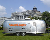 StoryCorp mobile recording booth