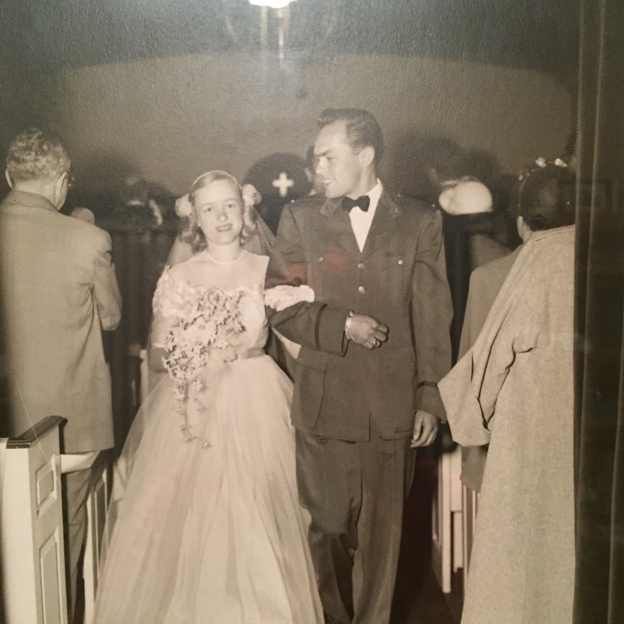 Mom and Dad Gilbert on their wedding day