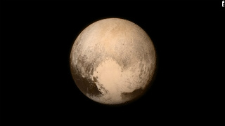 Planet Pluto in flyby
