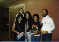 Ronnie James Dio with contest winners