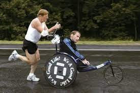 The Tandem Running Team of Dick and Rick Hoyt