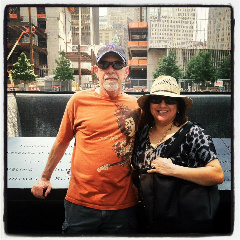 My wife and I at the 9-11 memorial for the World Trade Centers in 2012
