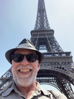 Tom at the Eiffel Tower