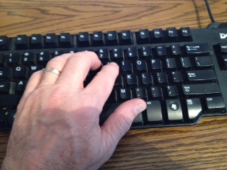 writing locations - typing at the keyboard