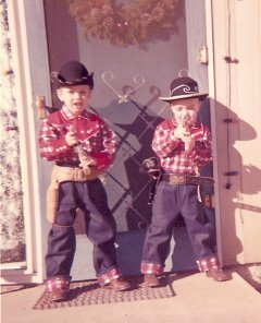 Little Cowboys Tom and Doug at Christmas