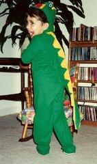 Kristen as dinosaur for Halloween