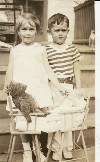 Lois Anne and Thomas Gilbert in young brother and sister photograph