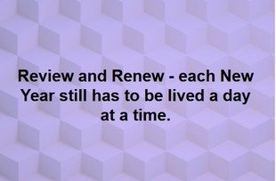review and renew