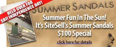 Site Build It Summer sandals special