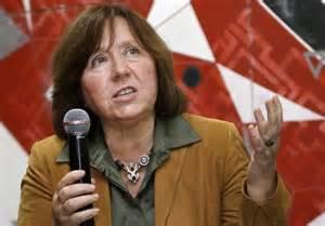 Nobel Prize winner for literature 2015, Svetlana Alexievich
